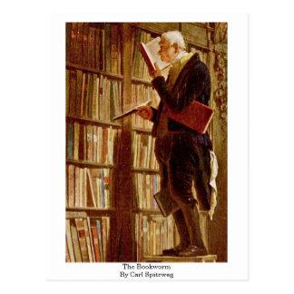 Der Bücherwurm durch Carl Spitzweg Postkarte