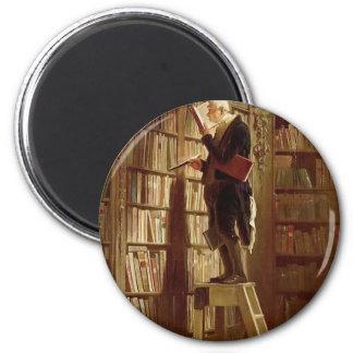 Der Bücherwurm Runder Magnet 5,7 Cm