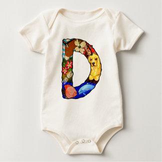 Der Buchstabe D Baby Strampler
