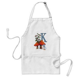 Der Buchstabe K, INITIALE, Toadstools, Gnome, Schürze