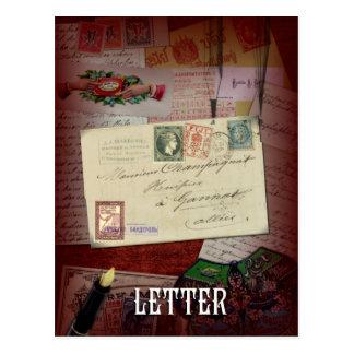 """""""Der Buchstabe"""" Lenormand Postkarte"""