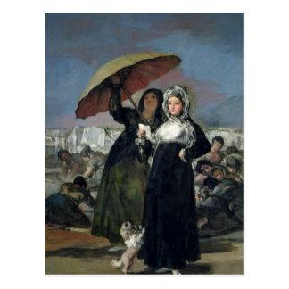 Der Buchstabe oder, die jungen Frauen, c.1814-19 Postkarte
