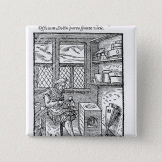 Der Buchstabe-Platten-Hersteller Quadratischer Button 5,1 Cm