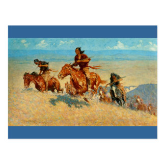 Der Büffel Runners (1909) Frederic Remingtons Postkarte