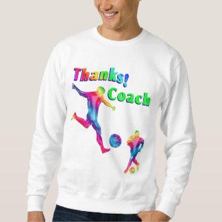 Der bunte Fußball-Trainer danken Ihnen Sweatshirt