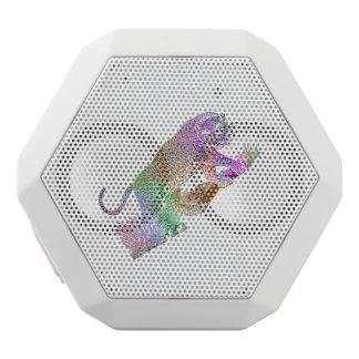 Der bunte künstlerische Watercolor-Leopard Weiße Bluetooth Lautsprecher