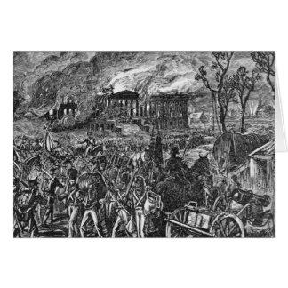 Der Burning von Washington, 1814 Grußkarte