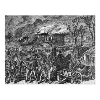 Der Burning von Washington, 1814 Postkarte