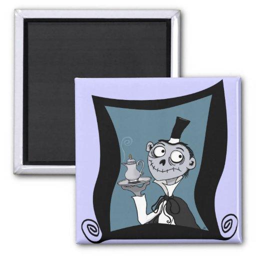 """""""Der Butler Aloysius"""" Magnet Kühlschrankmagnete"""