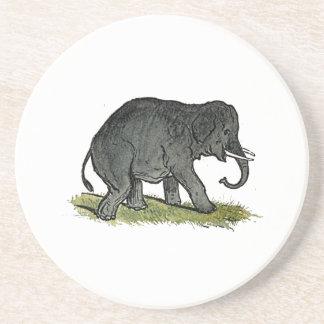 Der Cartoon der Elefant-graue Kinder Sandstein Untersetzer