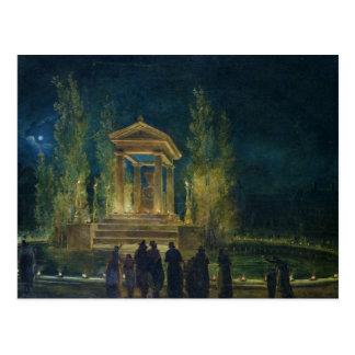 Der Cenotaph von Jean-jacques Rousseau Postkarte