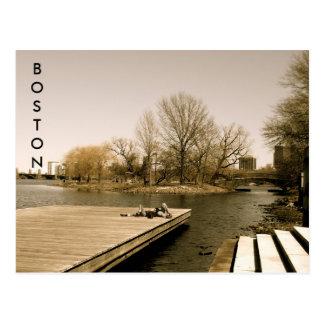 Der Charles River Esplanade (Sepia) Postkarte