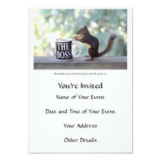 """""""Der Chef-"""" Eichhörnchen 12,7 X 17,8 Cm Einladungskarte"""