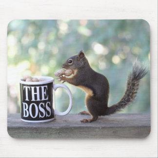 """""""Der Chef-"""" Eichhörnchen Mousepad"""