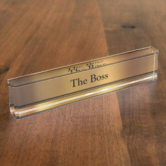 Der Chef-Führungskraft-Schreibtisch-Namen-Teller