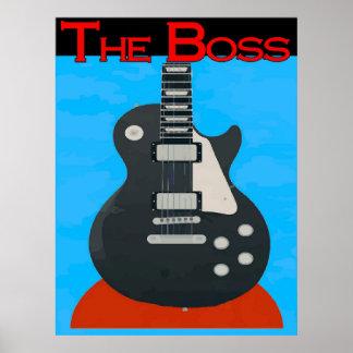 Der Chef, Gitarre Posterdruck