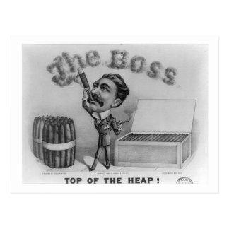 Der Chef - Spitze des Haufens! Postkarte