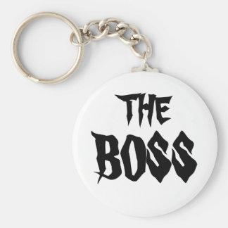Der Chef Standard Runder Schlüsselanhänger