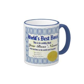 Der Chef-Zertifikat-Tasse der Welt beste Ringer Tasse