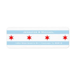Der Chicago-Flaggen-Schablonen-  blaue Streifen