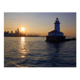 Der Chicago-Leuchtturm Postkarte