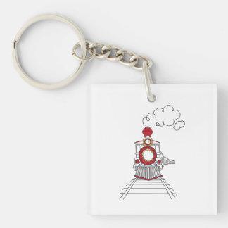 Der Choo-Choo Zug des Lebens Keychain Schlüsselanhänger