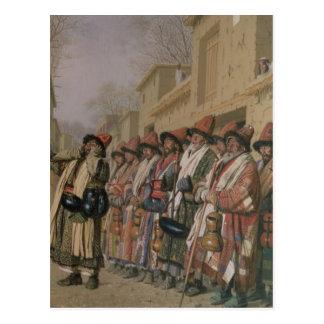 Der Chor der Derwische, der Almosen in Taschkent, Postkarte