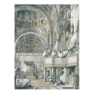 Der Chor, der in St Mark Basilika singt, Postkarte