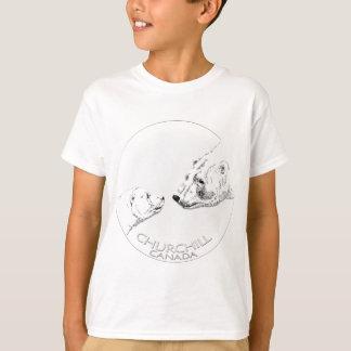 Der Churchill des Kindes polarer T-Shirt
