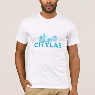 Der CityLab der Männer Shirtblau auf Weiß T-Shirt