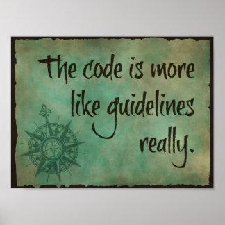 Der Code ist eher wie Richtlinien Poster