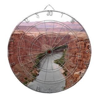 Der Colorado nahe Navajo-Brücke, Arizona, USA Dartscheibe