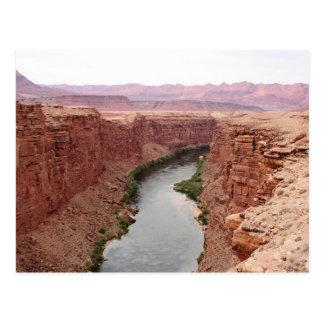 Der Colorado nahe Navajo-Brücke, Arizona, USA Postkarte