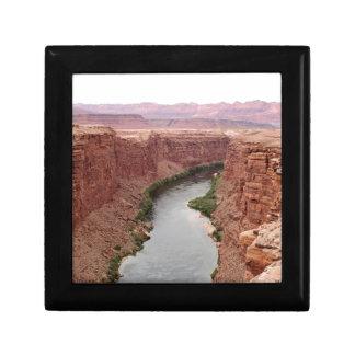 Der Colorado nahe Navajo-Brücke, Arizona, USA Schmuckschachtel