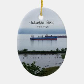 Der Columbia River in Astoria Oregon Verzierung Keramik Ornament