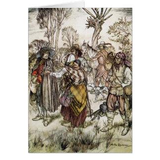Der Compleat Angler, Illustration Arthurs Rackham Grußkarte