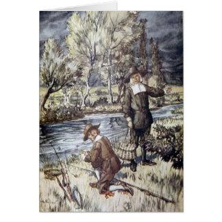 Der Compleat Angler Illustration Arthurs Rackham Grußkarte