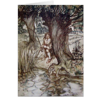 Der Compleat Angler Illustration Arthurs Rackham Karte