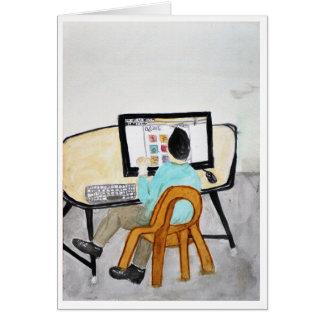 Der Computer-Schreibtisch Karte