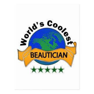 Der coolste Beautician der Welt Postkarte