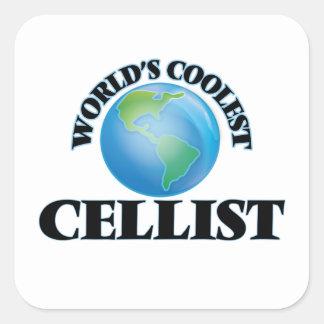 Der coolste Cellist der Welt Quadrat-Aufkleber