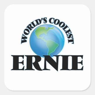Der coolste Ernie der Welt Quadrat-Aufkleber