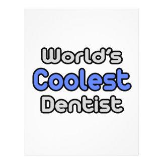 Der coolste Zahnarzt der Welt 21,6 X 27,9 Cm Flyer