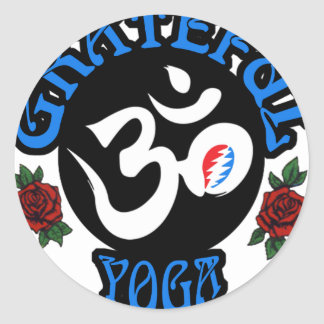 Der dankbare Yoga-Logo-Gang Runder Aufkleber