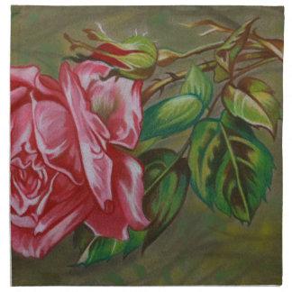 Der Dar der Mutter Rosen-Blume Stoffserviette