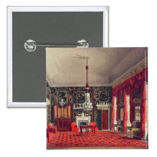 Der Das Frühstücks-Raum der Königin, Buckingham Ha Quadratischer Button 5,1 Cm