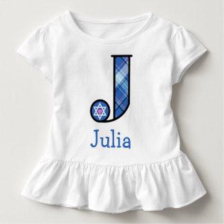 Der Davidsstern des Mädchens Chanukka Kleinkind T-shirt