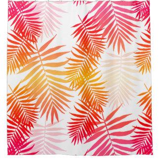 Der Dekor-Palme-Blatt der Frauen in den Duschvorhang