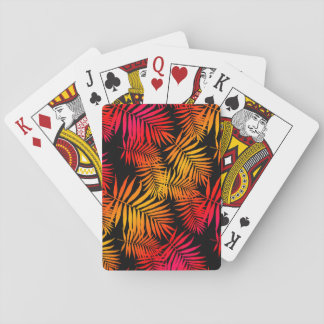 Der Dekor-tropisches Palme-Blatt der jugendlich Spielkarten