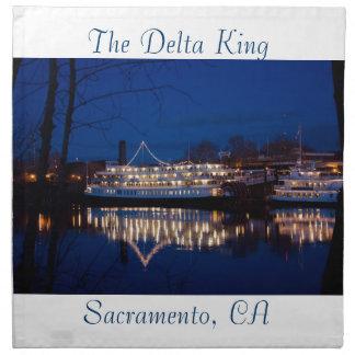 Der Deltakönig nachts - Sacramento, CA Serviette